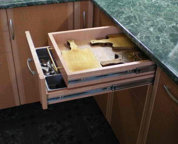 Выдвижные системы хранения для кухни: тандембоксы, кухонные .