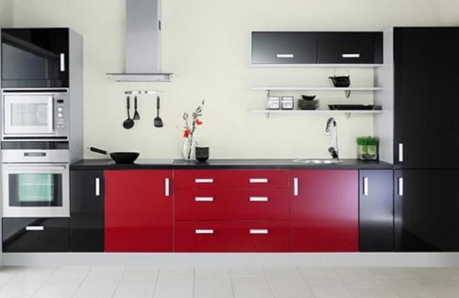 Подбираем разнообразный цвет в интерьере кухни икея