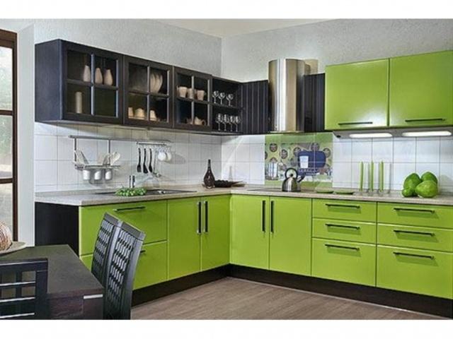 Зеленый цвет на кухне