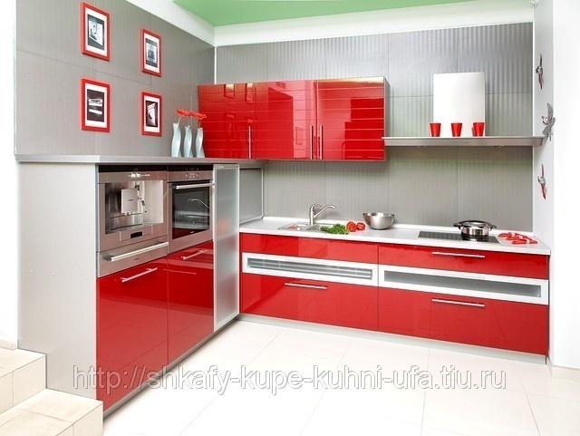 Кухни красные дизайн