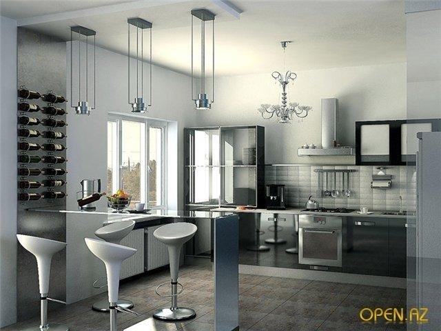 Дизайн кухни в цвете фуксия фото