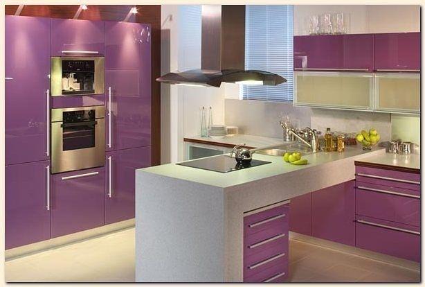 11 for Cocinas modernas moradas