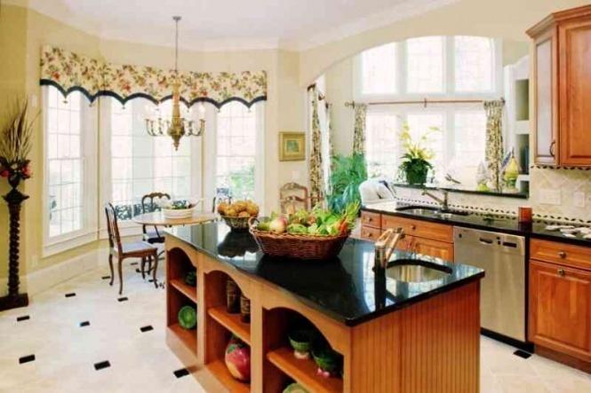 Дизайн гостиной совмещенной с кухней фото в
