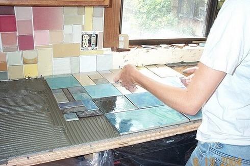 Столешница из керамической плитки своими руками фото 992