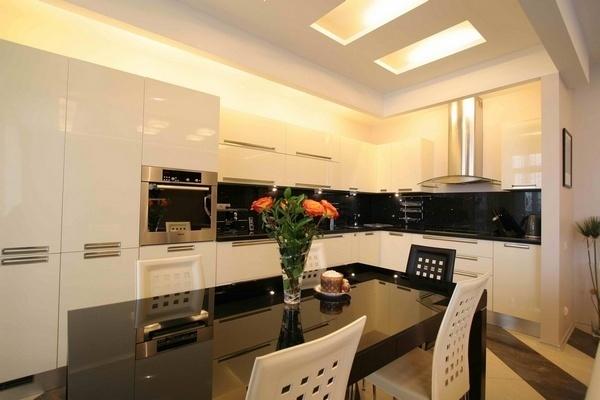 Кухня-столовая дизайн интерьера