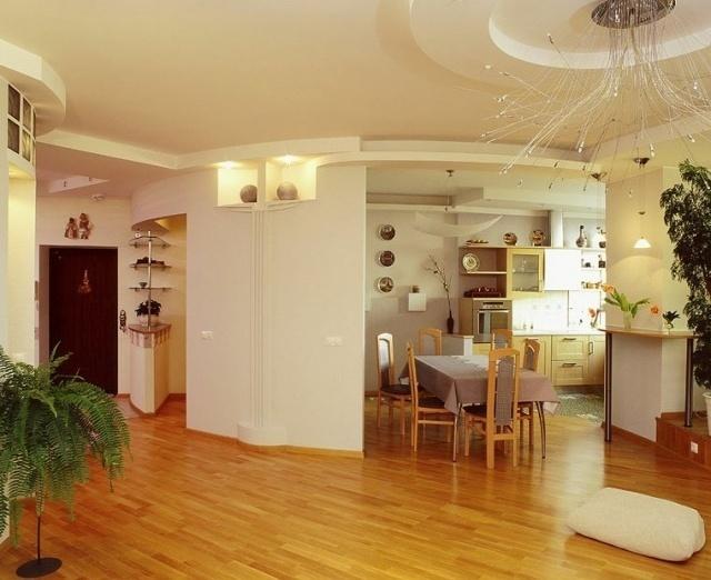 Особенности дизайна интерьера кухни столовой - 16 фото
