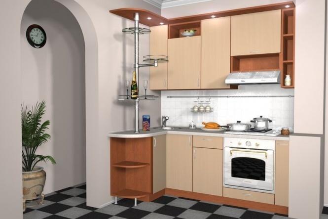 фото маленькой кухни площадью 55 квм где на кухне в 5 кв м