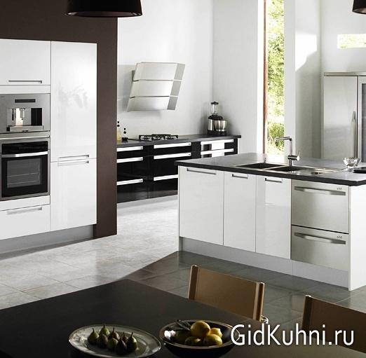 встраиваемая бытовая техника для кухни фото кухня с встроенной