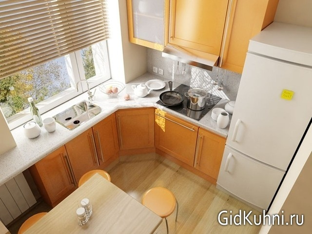 Ламинат на кухне фото