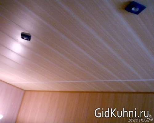 Пластиковые панели потолок фото