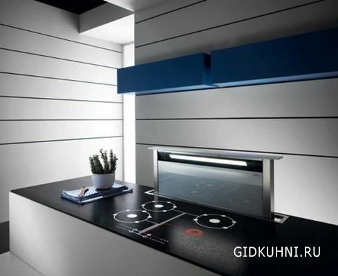 Интерьер кухни черно белого цвета
