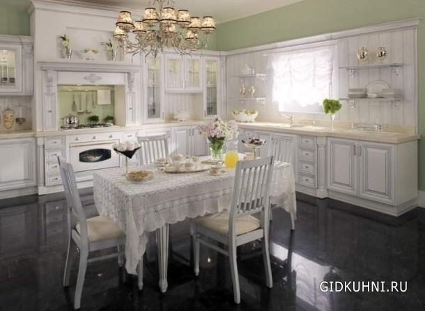 Кухни белые в интерьере фото