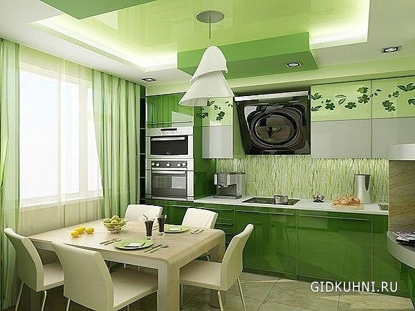 Кухня дизайн в зеленых тонах
