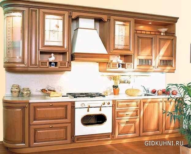 фото кухонный гарнитур под дерево