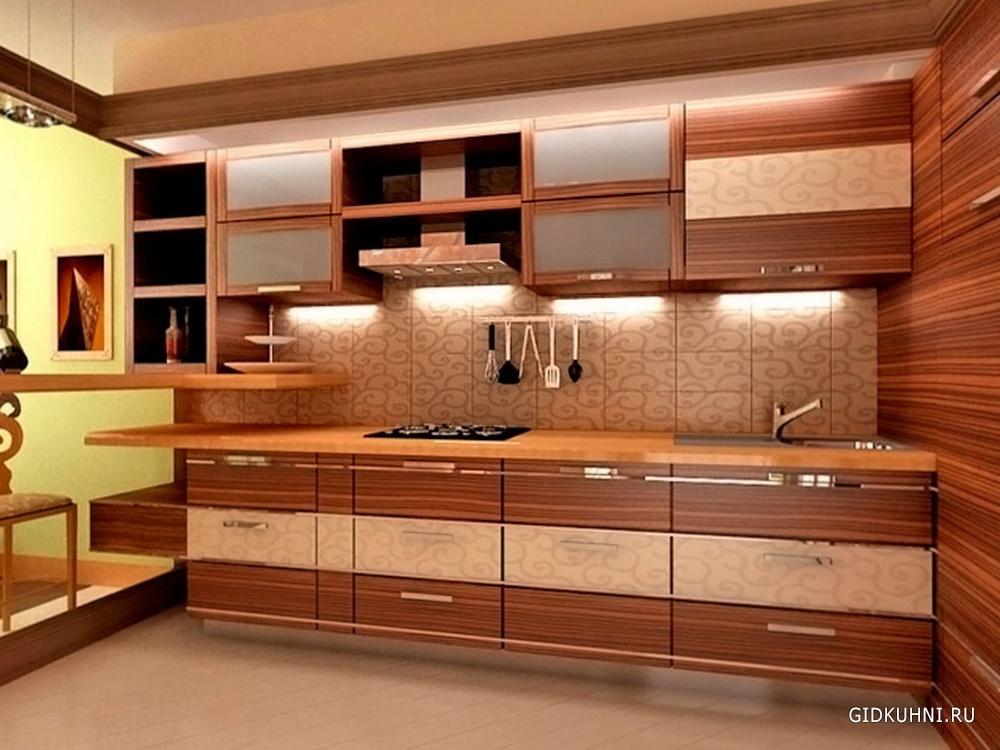 кухонный гарнитур под дерево фото
