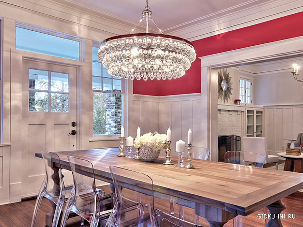 Contemporary chandeliers dining room